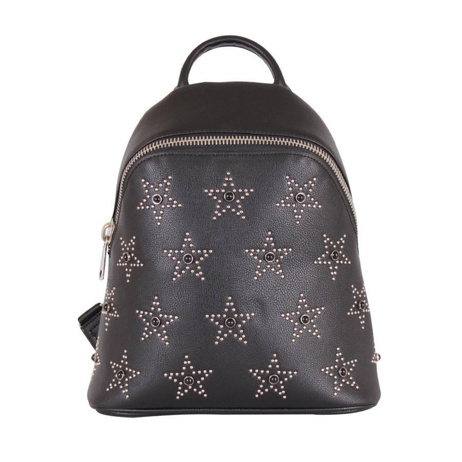 Сумка-рюкзак с модной крупной фурнитурой
