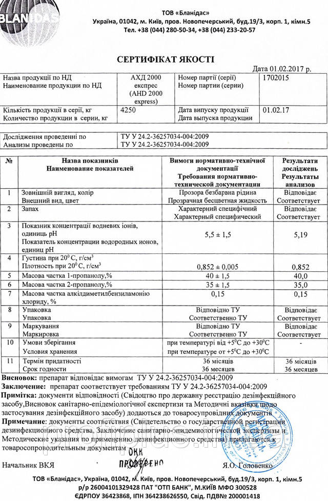 АХД 2000 экспресс сертификат