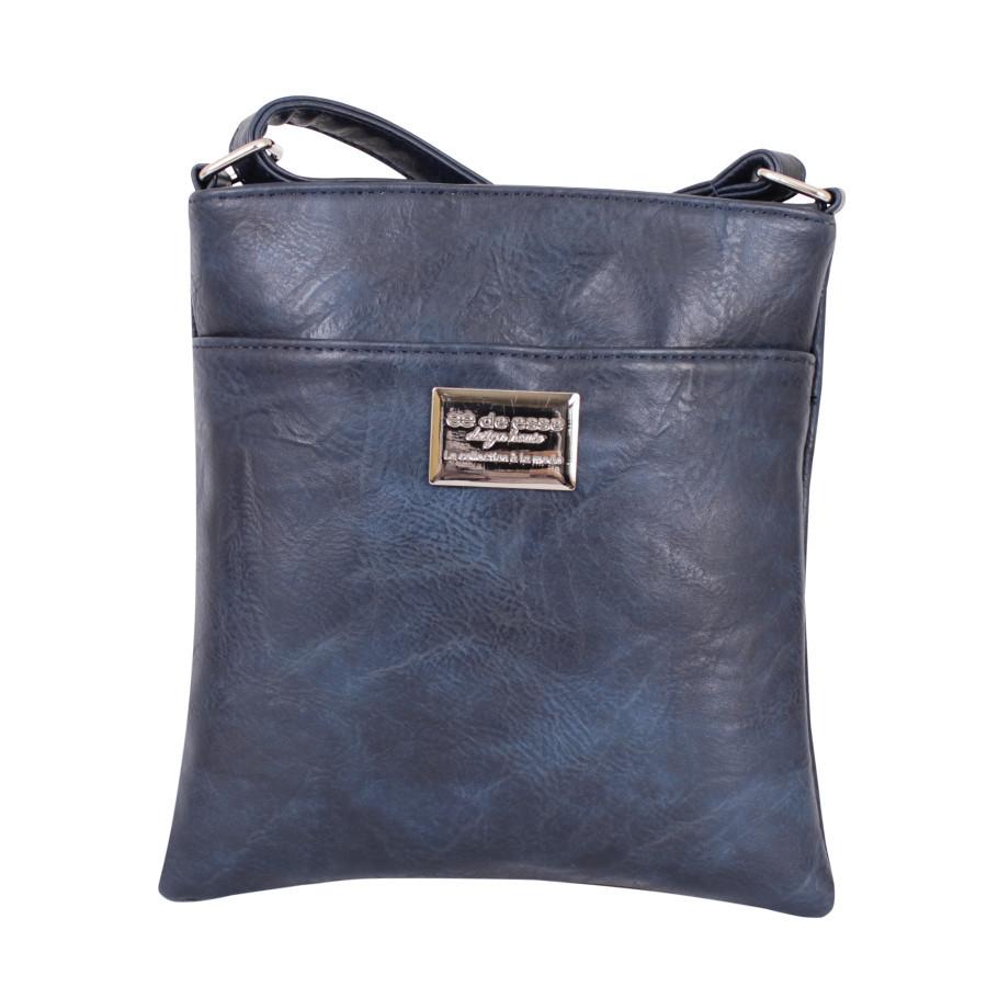 Синяя сумочка - планшет на молнии