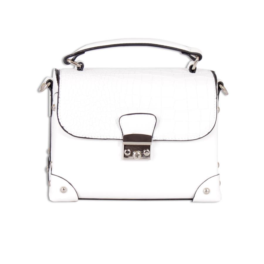 Небольшая белая сумка с полужестким каркасом