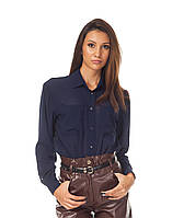 Стильная женская синяя рубашка. К090