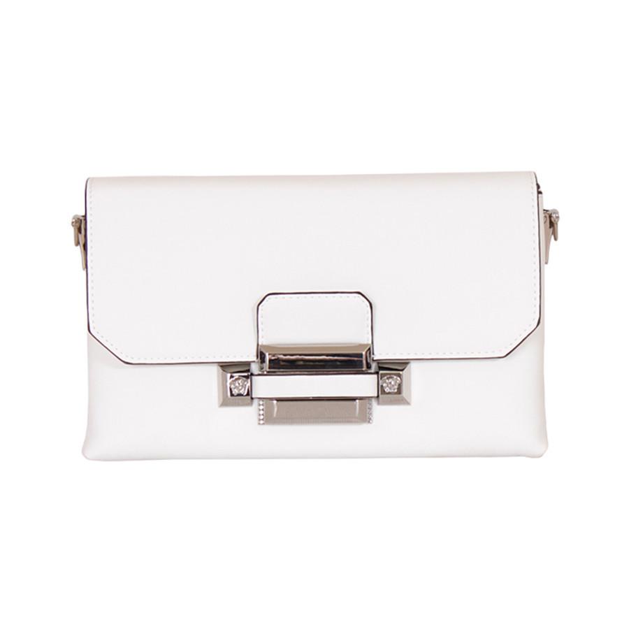 Белая сумочка с металлическим замком