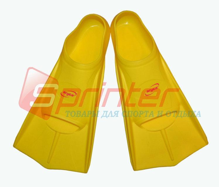 Ласты для плаванья, короткие. Размер 45-46. Цвет желтый.