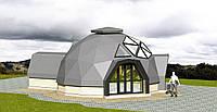 Проект купольного дома диаметром 8 метров