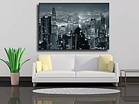 "Картина на холсте ""Hong Kong ночью"""