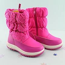 Сапожки дутики для девочек Малиновые Том.м размер 27,28, фото 3