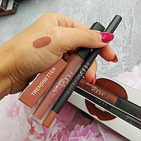 Жидкая матовая помада и карандаш Huda Beauty Liquid Matte - Trendsetter