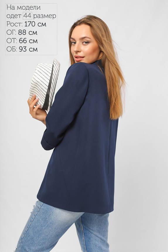 Пиджак без застежки с рукавом 3/4 синий, фото 2