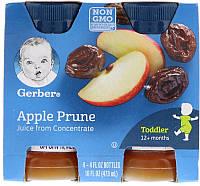 Gerber, Apple Prune Juice, Toddler, 12+ Months, 4 Pack, 16 fl oz (473 ml)