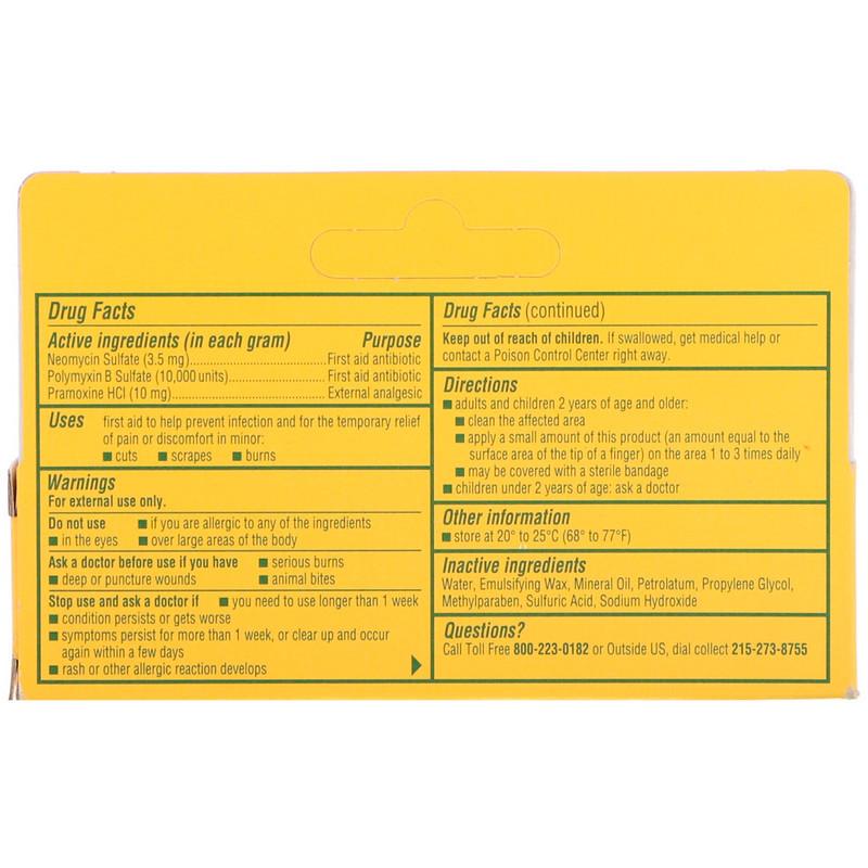 Neosporin, Dual Action Cream, Pain Relief Cream, For Kids Ages 2 +, 0 5 oz  (14 2 g)