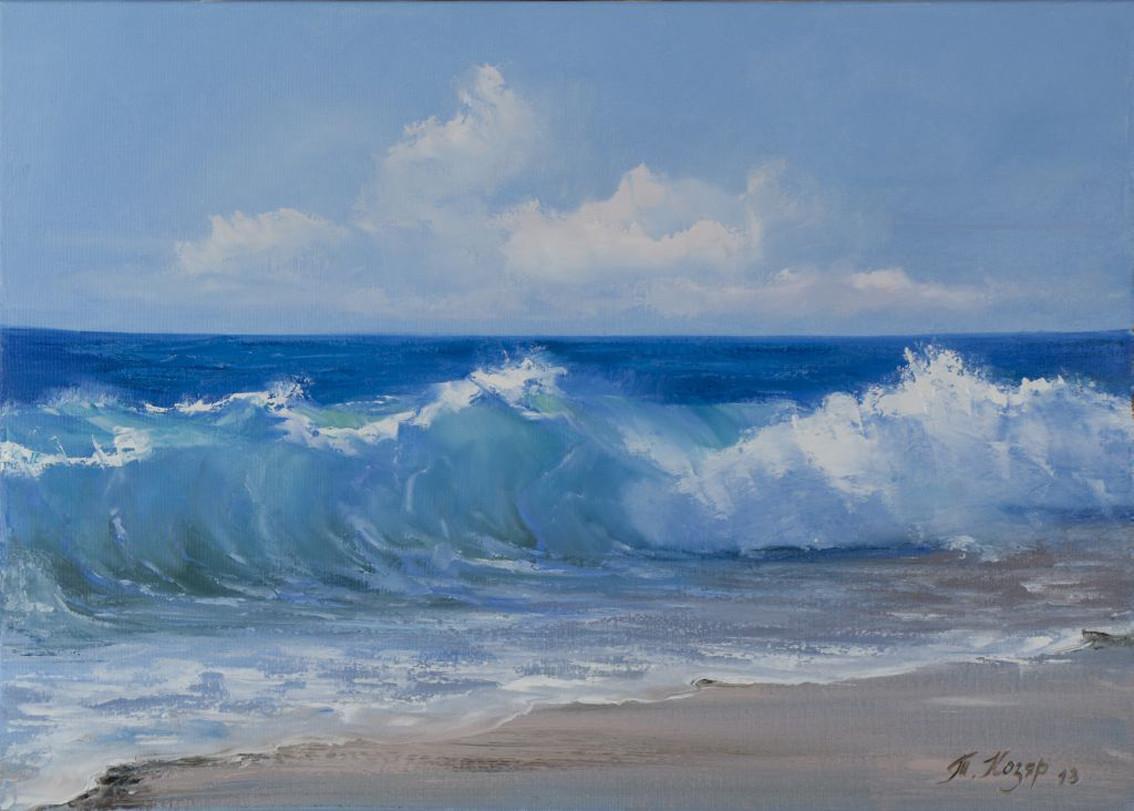 Хорошая волна холст 50х70 картина масло
