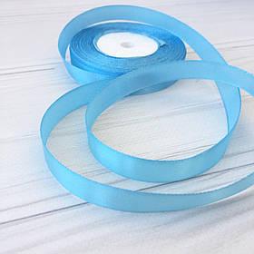 Лента атлас 1см ( голубой)