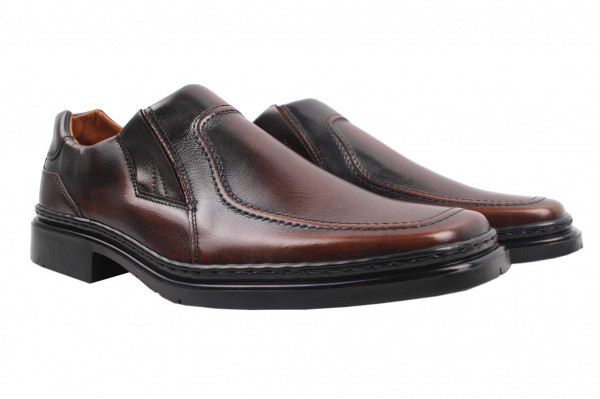 Туфли комфорт Man Fashion натуральная кожа, цвет коричневый