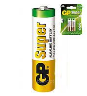 Батарейка щелочная GP 15A-U2 Super Alkaline LR6 AA пальчиковая (блистер)