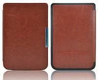 Обложка - чехол для электронной книги PocketBook 614/615/624/625/640/641/626/ Touch Lux 2/3 Коричневый