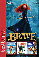 Сборник игр: Храбрая Сердцем / Ледниковый период 2 /  Ледниковый период  3 / Гадкий Я  (PS2)