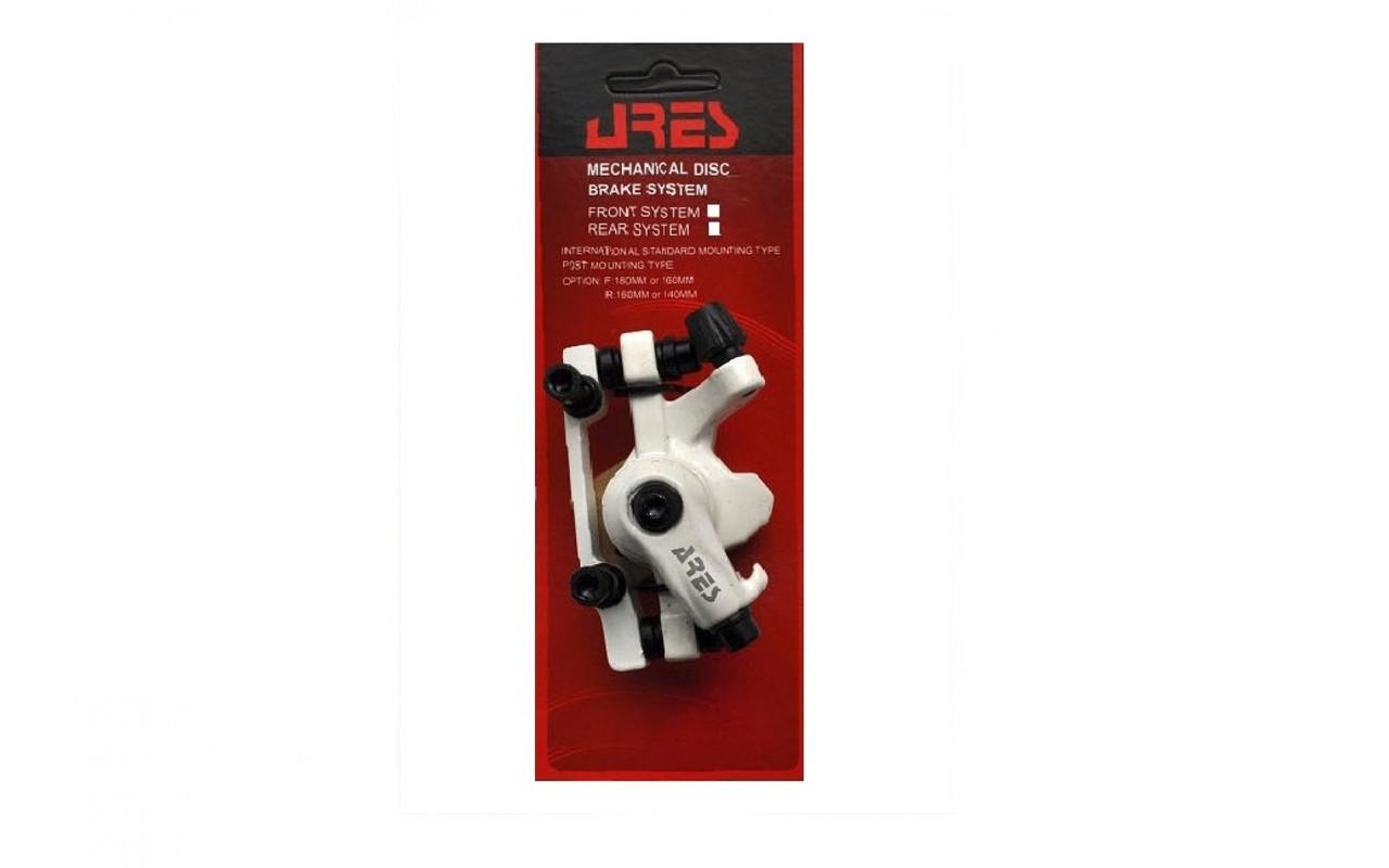 Тормозной калипер Ares MDA08 задний белый (адаптер F180/R160мм)