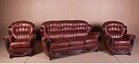 """Комплект мягкой мебели """"Джове"""" (диван раскладной  + 2 кресла)."""