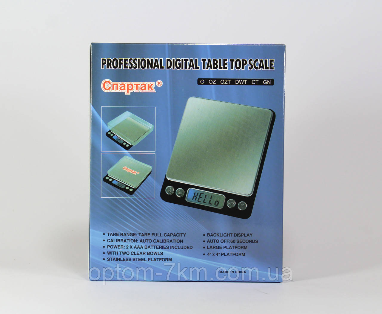 Электронные Кухонные Весы  ACS 3000gr/0.1gr BIG S