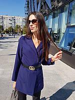 Пиджак женский удлиненный с накладными карманами