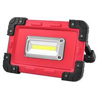 Фонарь-прожектор светодиодный W822-30W-COB, 4x18650, ЗУ micro USB, Power Bank