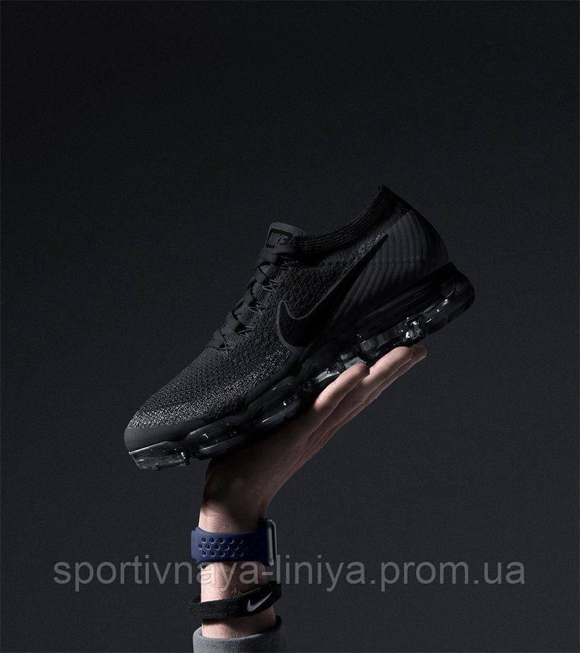 Кроссовки мужские черные Nike Air VaporMax Black Anthracite (реплика)