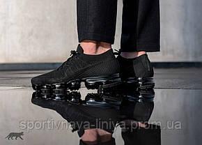 Кроссовки мужские черные Nike Air VaporMax Black Anthracite (реплика), фото 3