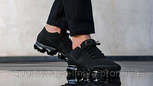 Кроссовки мужские черные Nike Air VaporMax Black Anthracite (реплика), фото 2