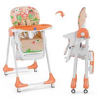 Детский стульчик для кормления Bambi M 3234-5 Оранжевый (intM 3234-5) КОД: 623162