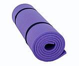Каремат для фитнеса и йоги, фиолетовый, т. 8 мм, размер 60х180 см, производитель Украина, TERMOIZOL®, фото 2