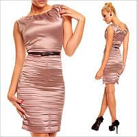 Деловое платье коричневого цвета
