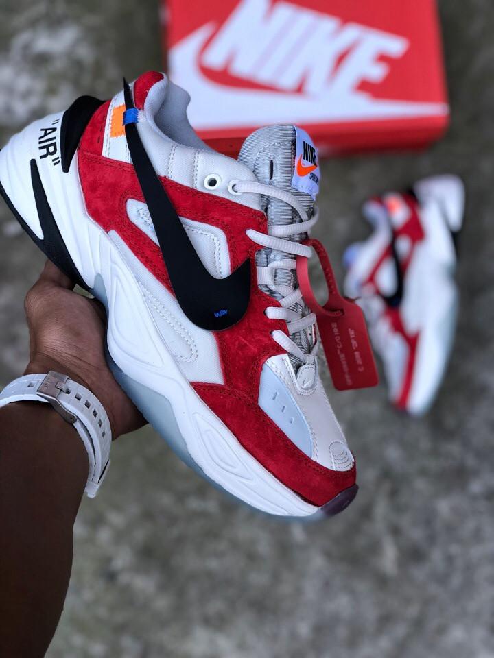 "Кроссовки Nike M2K Tekno Off-White ""Red"" (Красные)"