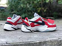 "Кроссовки Nike M2K Tekno Off-White ""Red"" (Красные), фото 3"