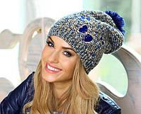 """Женская шапка крупной вязки """"Жулита"""" Kamea"""