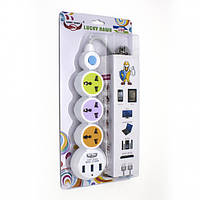 Сетевой удлинитель ZBS EU 3 Power Socket LH-304 3USB White (LH-304)