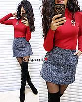 Костюм гольф стрейчевый и юбка мини букле, фото 3