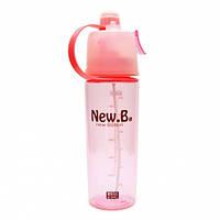 Бутылка для воды Bianli New B: 600 мл. Цвет: Розовый