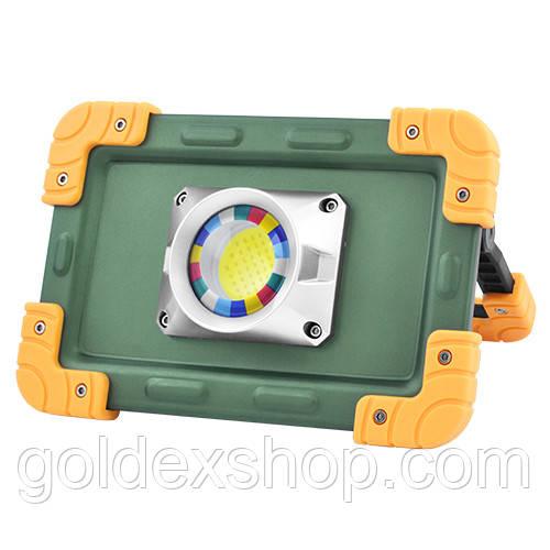Фонарь-прожектор аккумуляторный W823-30W-COB, 4x18650, Power Bank