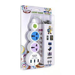 Сетевой удлинитель ZBS EU 2 Power Socket LH-303 3USB White (LH-303)