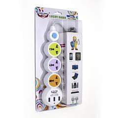 Сетевой удлинитель ZBS EU 3 Power Socket LH-304 3USB White (LH-304)