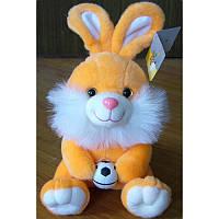 Мягкая игрушка озвученая Заяц с мячем №2110-16