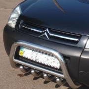 Защитная дуга (кенгурятник) Citroen Berlingo подножки