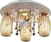 Люстра Altalusse LV219-04 White & Gold Altalusse Чехия