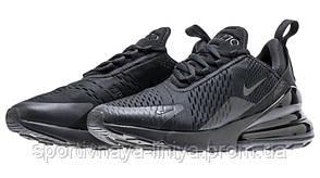 Кроссовки мужские черные Nike Air Max 270 Full Black (реплика), фото 2