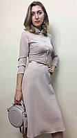 Платье офисное светлое американка П199