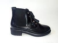 Кожаные женские демисезонные ботинки на шнурках ТМ Lonza, фото 1