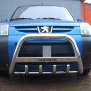 Защитная дуга (кенгурятник) Peugeot partner, боковые пороги