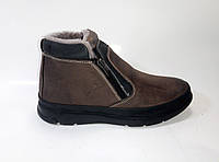 Мужские кожаные зимние ботинки на двух молниях ТМ Rifellini, фото 1