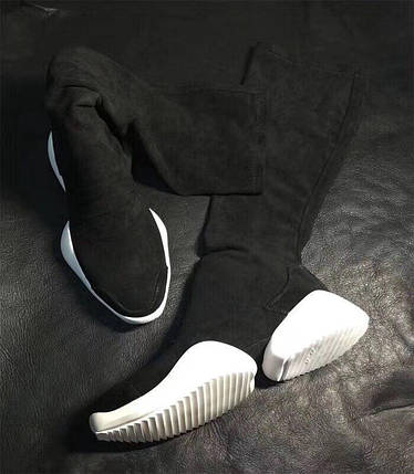 Стильные осенние сапоги. Цвет черный, фото 2