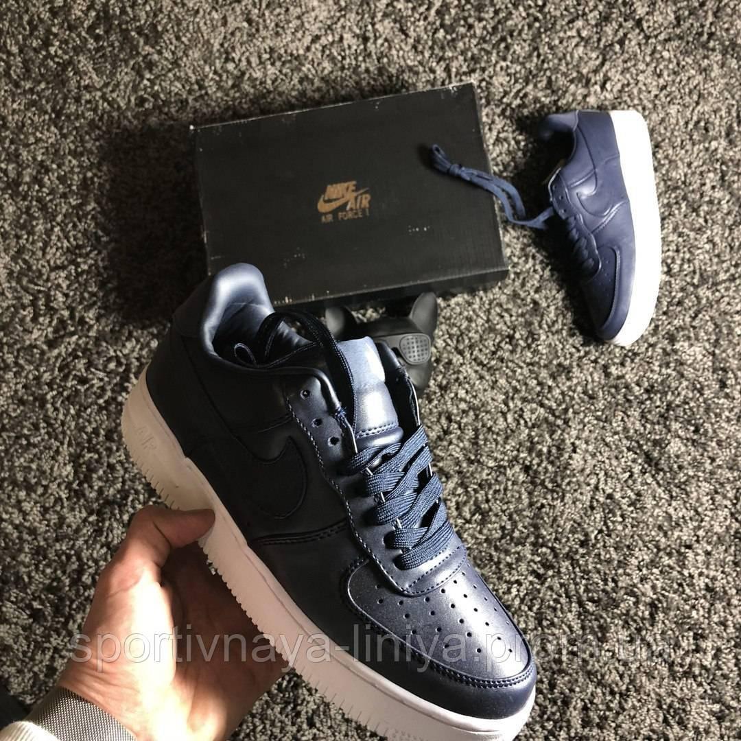 Кроссовки мужские синие Nike Air Force 1 Low Deep Blue (реплика)